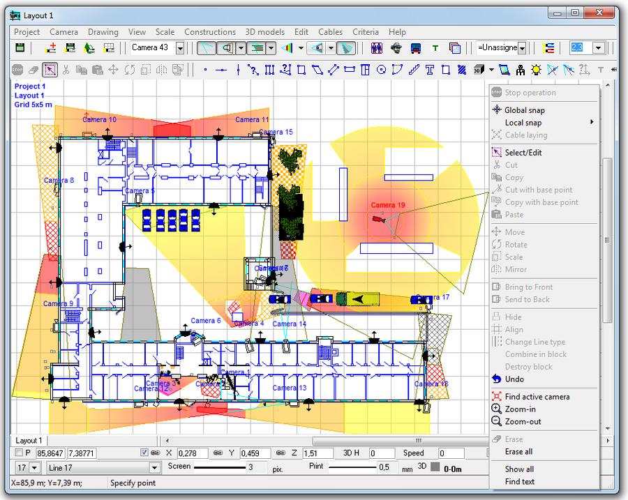 CCTV Design Software - VideoCAD Professional